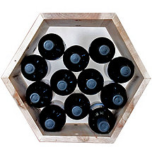 Hive Modular Wine Rack (Maple)