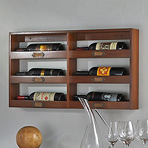 Library 6 Bottle Wine Rack (Horizontal)