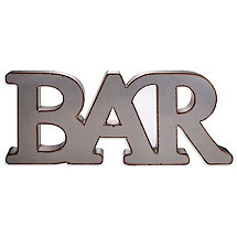 Industrial Metal Bar Wall Sign
