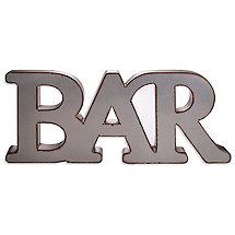 Industrial Metal Bar Wall Sign