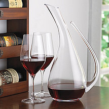 Teardrop Decanter and Fusion Classic Cabernet Wine Glass Set