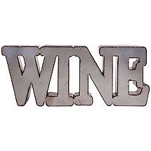 Industrial Metal Wine Wall Sign