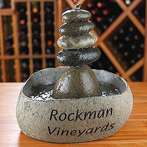 Personalized Rock Cairn Fountain