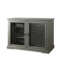 Siena Mezzo Wine Credenza PLUS 1 Free 28 Bottle Touchscreen Wine Refrigerator (Distressed Gray)