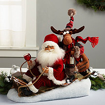 Karen Didion Sled Santa with Moose