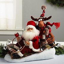 Karen Didion Sled Santa with Moose