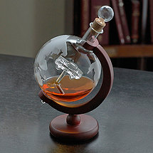 Globe Whiskey Decanter with Antique Car