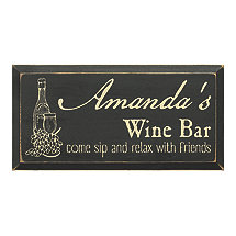 Personalized Wooden Wine Bar Sign (9 X 18)