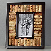wine cork picture frame kit 4x6 photo espresso finish