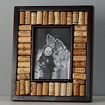 wine cork picture frame kit 5x7 photo espresso finish