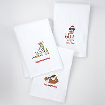 Holiday Dog House Kitchen Towels (Set of 3)
