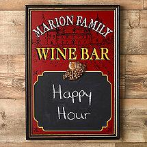 Personalized Wine Bar Chalkboard
