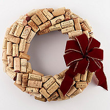 Recycled Wine Cork Wreath