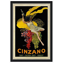 Cinzano Vintage Advertising Print Reproduction (28 X 34)
