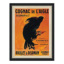 Cognac De L'Aigle Vintage Advertising Print Reproduction (28 X 34)