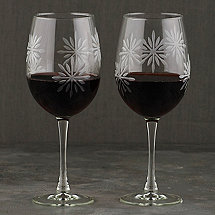 Etched Snowflake Wine Glasses (Set of 2)