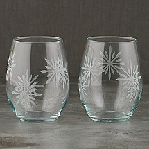 Etched Snowflake Tumblers (Set of 2)
