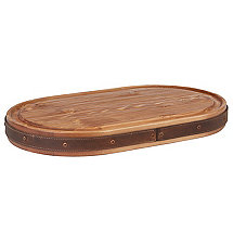 Heritage Oval Cheese Board with Leather Trim