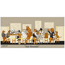 Bar Hounds Canvas Print (Limited Edition Signed)