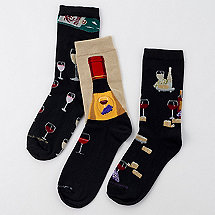 Men's Wine Bar Socks (Set of 3)