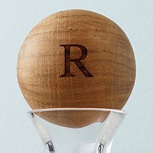 Personalized Wood Decanter Stopper