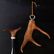 Antler Bottle Stopper & Opener Set