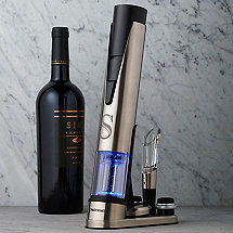 Personalized Electric Blue 1 Wine Opener & Preserver Set