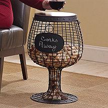Wine Glass Cork Catcher Accent Table
