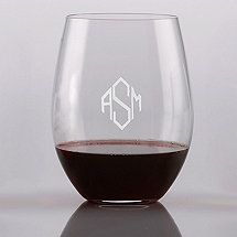 Personalized Riedel 'O' Cabernet Stemless Wine Glasses (Set of 2)