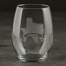 Personalized Texas State Tumbler Glasses (Set of 2)