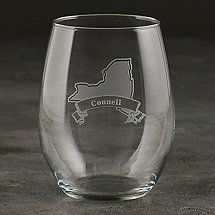 Personalized New York State Tumbler Glasses (Set of 2)