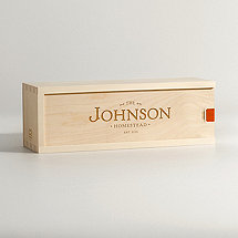 Personalized Family Homestead Wine Box