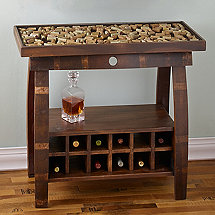 Reclaimed Barrel Stave Console Table