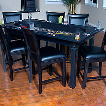 Burlington 3-in-1 Game Pub Table with 6 Chairs