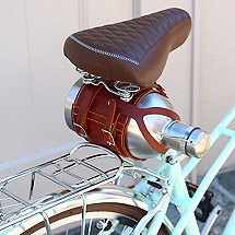 Leather Bicycle Growler Carrier
