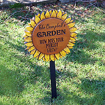 Personalized Sunflower Garden Sign