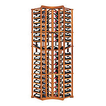 N'FINITY Wine Rack Kit - 4 Column Curved Corner with Display (All Heart Redwood)