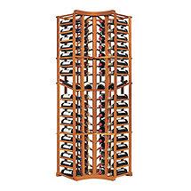 N'FINITY Wine Rack Kit - 4 Column Curved Corner with Display (All Heart Redwood)