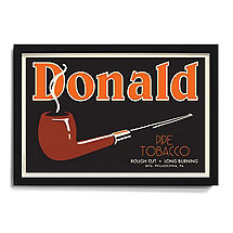 Personalized 'Pipe' Framed Print
