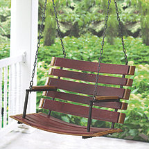 Reclaimed Barrel Stave Porch Swing