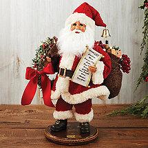 Karen Didion Collectors Edition 20th Anniversary Lighted Wreath Santa