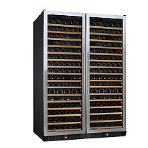 N'FINITY PRO Double L RED Wine Cellar (Stainless Steel Door)