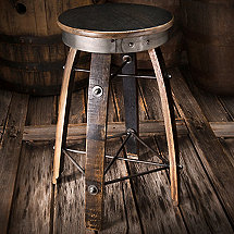 Bourbon Barrel Stave Swivel Stool