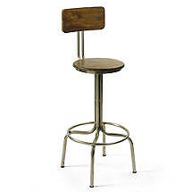 Clevelander Wood and Metal Bar Stool