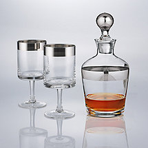 Madison Avenue Short Stem Glasses and Decanter Set