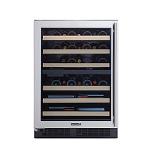 Wine Enthusiast SommSeries Dual Zone Wine Cellar Left Hinge (Stainless Steel)
