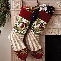 Vineyard Holiday Stocking