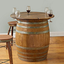 Finished Full Wine Barrel With Table Top
