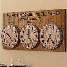 Personalized Wine Times Around The World Clock