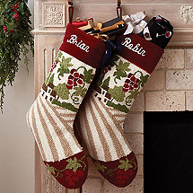 Personalized Vineyard Holiday Stocking